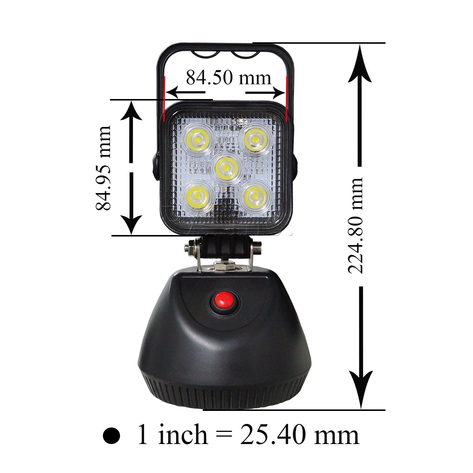 led work light portable rechargeable magnetic base 15w flood ebay. Black Bedroom Furniture Sets. Home Design Ideas