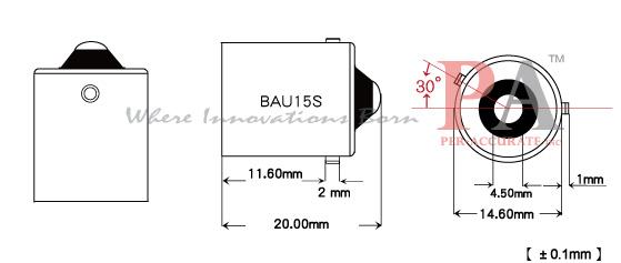 20 X 1156 Bau15s Bulb Base Transformer From T10 194 Wedge