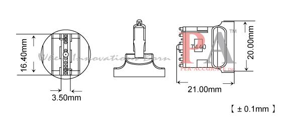4pair t20 7440 base socket to t10 led bulb converters bulb