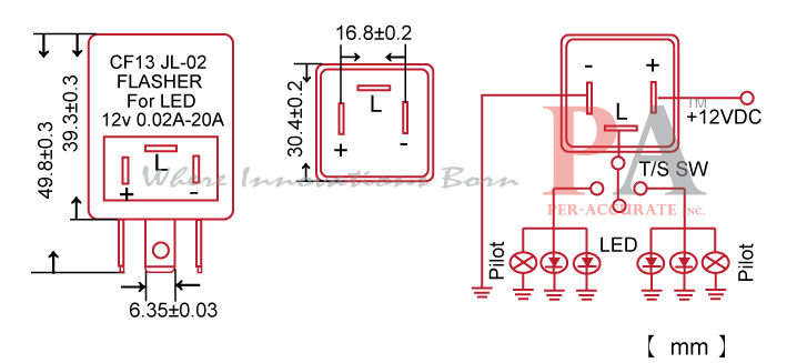 FLCF13_SPEC led blinker flasher wiring diagram wiring diagrams 12 Volt Flasher Diagram at gsmportal.co