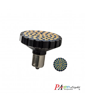 PA x2 Harley Davidson Motorcycle Use Turn Signal Light Bulb 48SMD 2835 LED 1156 Ba15s High Brightness Blinker Lamp Amber (Yellow)