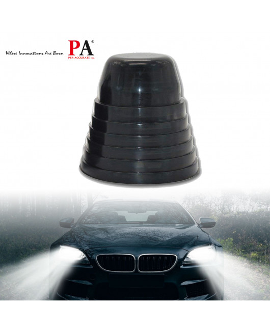 2x Rubber Seal Cap Dustproof Waterproof Housing Cover for LED HID Headlight