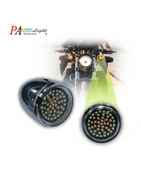 PA x2 Harley Davidson Motorcycle Use Turn Signal Light Bulb 48SMD 2835 LED 1157 Bay15d High Brightness Blinker Lamp Dual Color White + Amber (Yellow)