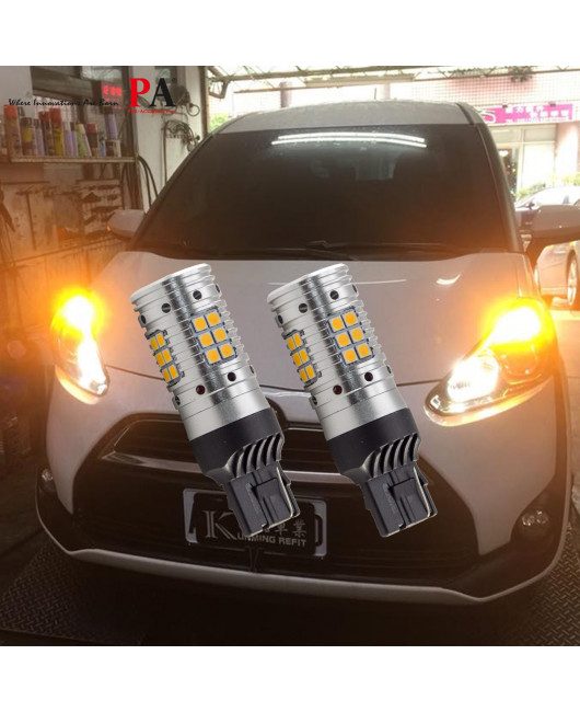 【LED Turn Signal】2 pics Built-in resistance / Super Bright / Anti-flash / Decoding / Straight up installation / CAN BUS / T20 7440 1156 P21W W21W
