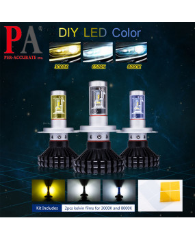 LED Auto headlight bulbs Conversion Kit H4 H7 H8 H9 H10 H11 H15 H16J 9005 9006 Ship from Taiwan