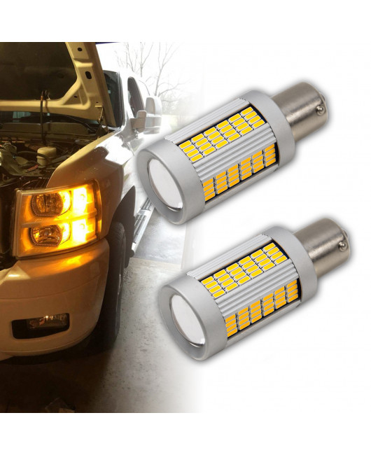 PA 2x 135 SMD Auto LED BA15S Turn signal light Uniform brightness CANBUS ERROR FREE Amber Yellow