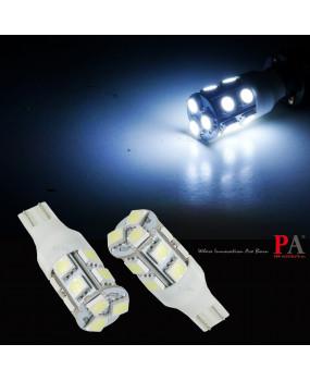 PA LED 2pcs x T15 White Color 13SMD 5050 Car Auto Tail Brake Stop Signal Lights lamp Bulb 12V 140 Lumen