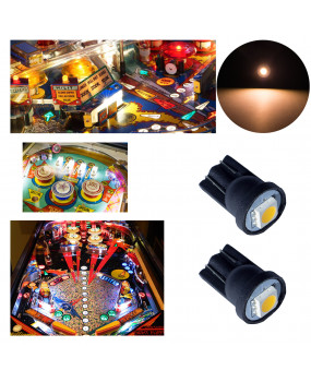 PA LED Game Machine LED Bulb 1 SMD T10 w5w Warm White 6.3v Pinball Light