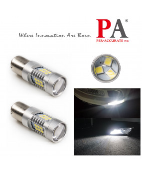 PA 2 x 21 SMD 2835 LED BA15S 1156 P21W 10-30V Tail Brake Stop Reverse Light Bulb(White/Yellow)