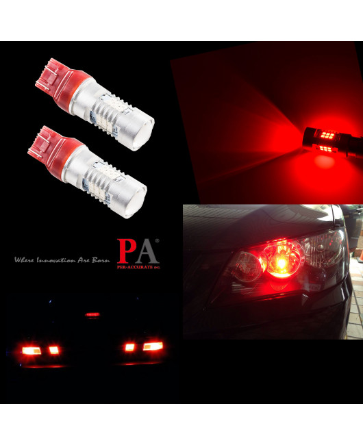 PA 2 x 21 SMD 2835 LED T20 7443 7440 10-30V Tail Brake Stop Reverse Light Bulb(White/Red/Yellow)