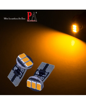 PA 2pcs Auto Vehicle Side Marker Turn Signal Parking Light Bulb 3 smd 5630 LED High Bright Yellow Amber w5w 501 T10 194