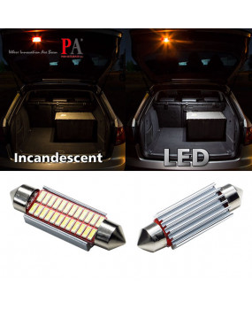 4x Festoon 41MM CANBUS Interior Dome License Plate 4014 24SMD LED Light Bulb White 6000K