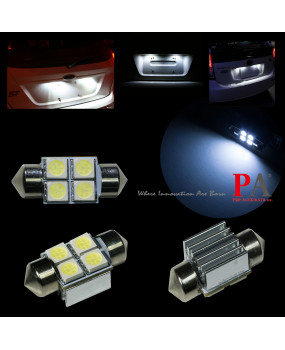 PA LED 2pcs x 4SMD 5050 Radiator Festoon 28mm LED Dome Map Interior Door Light Bulb 12V Canbus