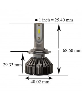 [PA LED] H7 /H8 H9 H10 Ultra Mini Small Size High Brightness 6000K White Light Headlights Motor Car