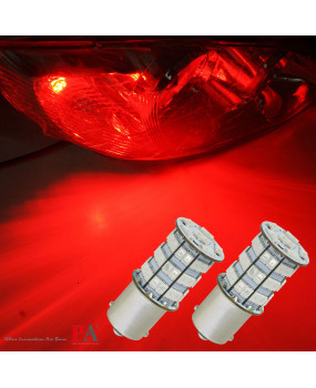 PA 2pcs One Pair LED Bulbs High Power 55SMD 2835 + 5730 Chip LED 900LM Auto Light Bulbs Turn Light Back Up Light (1156 Ba15s T20 3157 7443 7440 1156 Bau15s 1157 Bay15D, RED)