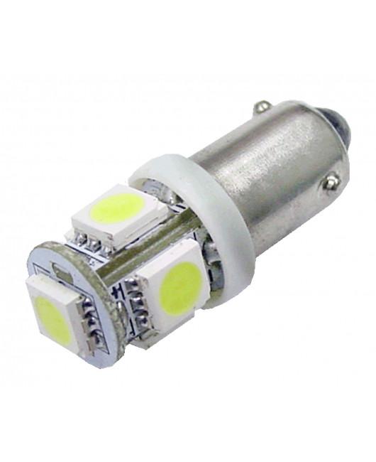 PA 10pcs 12v interior dome reading Light  5 SMD 5050 LED ba9s #44 Bulb