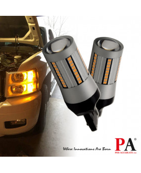 PA 2x 66 SMD Auto LED T20 7440 Turn signal light Uniform brightness CANBUS ERROR FREE Yellow