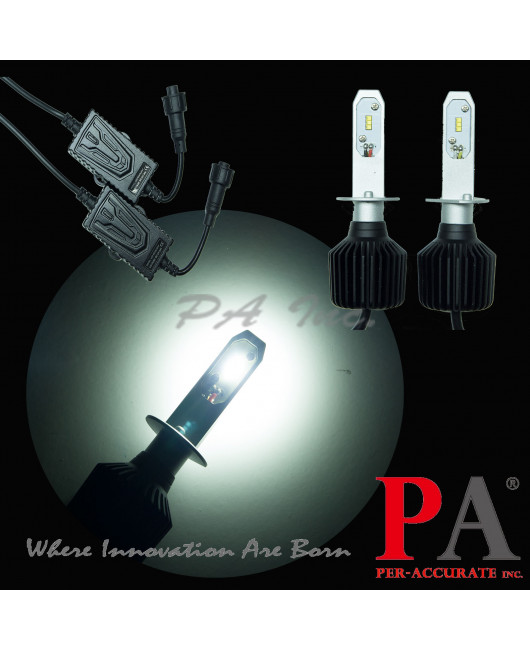 PA Pair H1 PHILIPS ZES LED Chip 120W Headlight Fog Light Bulb Kit White Lamp