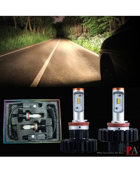 PA LED Heading Lights Warm White Color H8 ZES LED