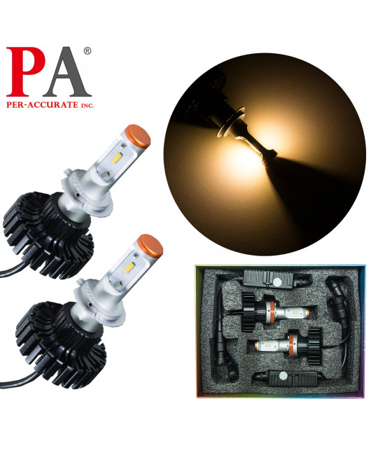 PA LED Heading Lights Warm White Color H7 ZES LED