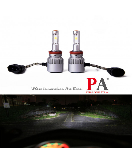 PA 2017 Hot Selling  8 series Car 9006 H8 H9 H11 H16J Headlamp 60W High Power COB led headlight