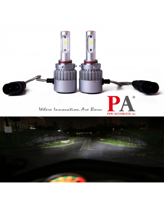 PA 2017 Hot Selling  8 series Car 9005 HB3/9006 HB4/H10 Headlamp 60W High Power COB led headlight
