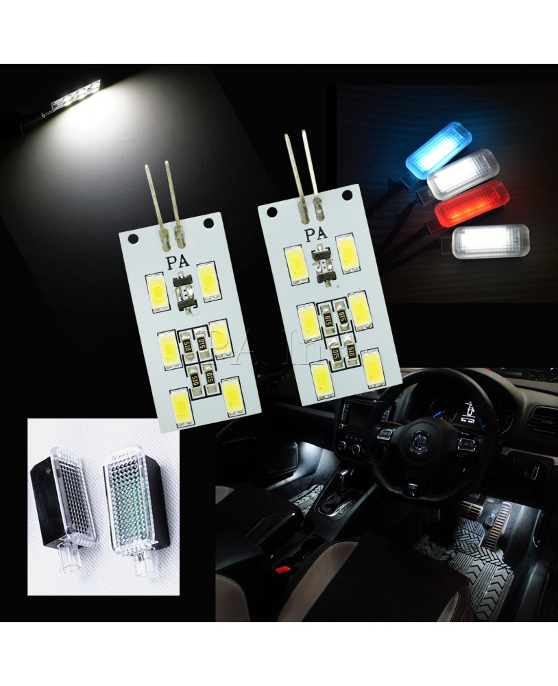 Pa 2x Replacement Pcb Led Module Board Foot Well License Plate Light Bmw Footwell Location For Audi White