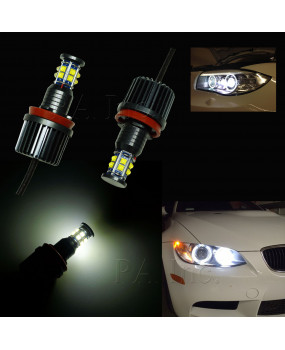 PA LED 2x H8 12 CREE Chip 120W BMW Angel Eye DRL LED Bulb for 1 3 5 7 X Series