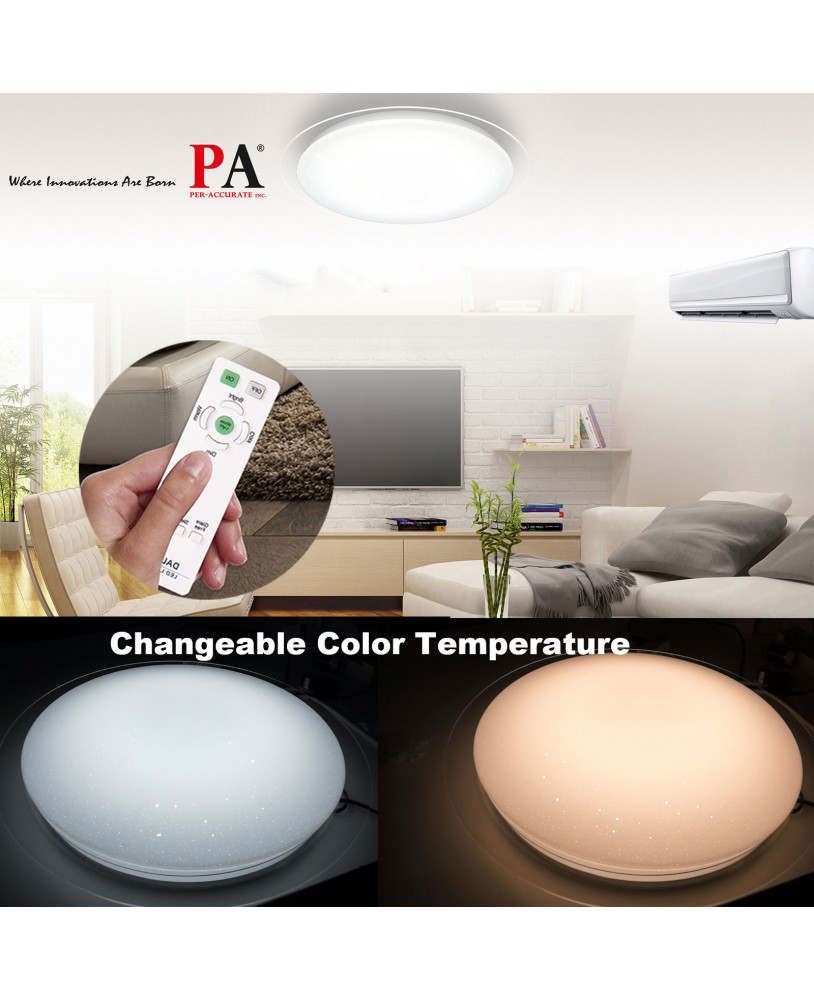 Pa Led Ceiling Light Wireless Remote Control Change Color 360 Degree