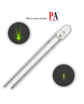 PA 100x 3.0 mm DIP LED LAMP Yellow/Green (L-314UGC) 320 Luminous