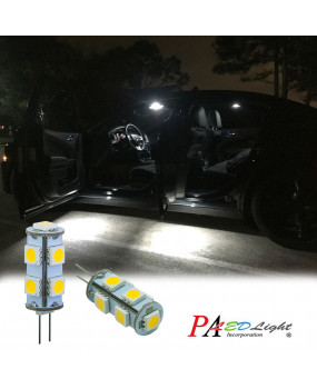 PA 2x G4 9 SMD 5050 LED Bulb DC 12V 3000k Warm White RV Cabinet G4 Spot Light