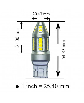 PA 2x Golden Yellow Color 30 SMD LED with T20 7443 base