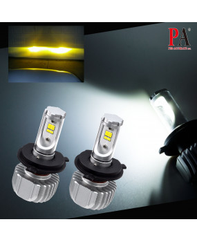PA LED  H4 HS1 Straight-up Seoul Y19 LED Chips Five-color choice 25W Yellow, Warm white, White, Cold White, Ice Blue