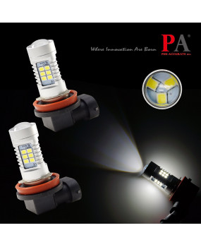PA LED 2x H8 H9 H11 H16J 2835 SMD 21 LED 6000K White DRL Driving Fog Light Bulb