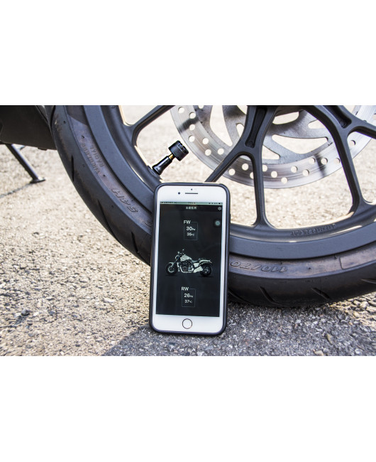 PA Motorcycle External TPMS Tire Pressure Monitoring System Scooter Mobile App Remote Control