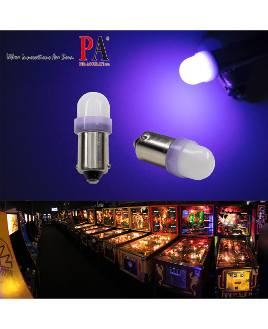 PA x10 T11 2835 LED ba9s 2 SMD 6.3V DC Pinball Gaming Machine Light Bulb (White,Ice Blue,Blue,Red,Purple,Yellow,Warn White,Green)