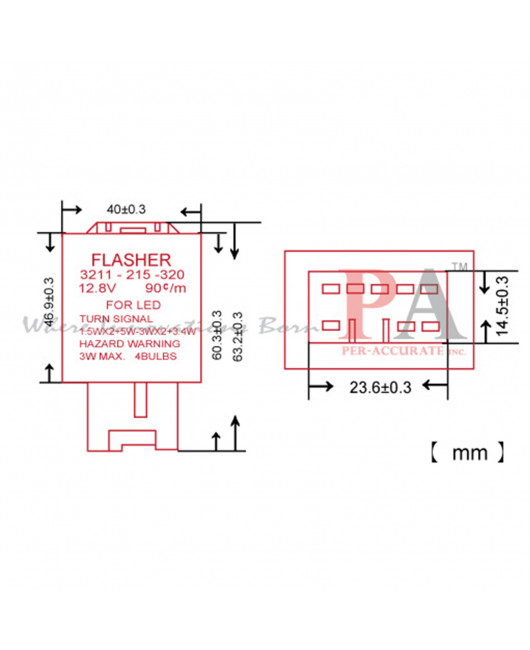 PA 8 Pin LED Flasher Fixer Turn Singal Mazda car use 12V Relay