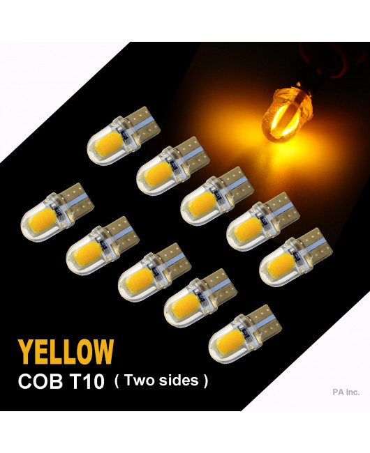 PA 10 x COB LED (Two sides each 4 chip) T10 921 T15 194 CANBUS Silica Bright Side Marker Light/Turn Signal Light/Driving Light/License Light Bulbs