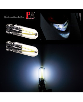 PA LED 10x T10 W5W 168 COB Filament LED White Parking Reverse Side Marker Light Bulb