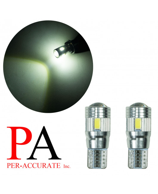 PA 2x White T10 W5W 921 194 5630 6 SMD LED CANBUS Error Free Parking Light Bulb