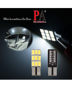 PA LED 4pcs x White T10 168 194 W5W 9SMD 5630 Car LED Light Canbus Error Free Bulbs Parking Light 12V SIDE VIEW