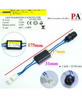 PA 2x T10 / T15 168 921 LED Backup Reverse Lights No Error Wiring Adapter Load Resistor