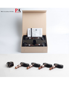 PA TPMS Tire Pressure Monitoring System Cigarette Lighter Plug +4 Internal Sensors