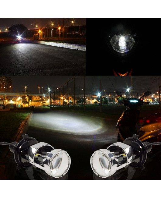 PA LED H4 Led Headlight Bulbs With Mini Projector Lens High/Low Beam  Can Solve The Astigmatism Problem Plug And Play Fanless Led Headlight Conversion Kit