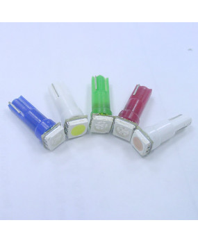 PA 10x T5 74 73 5050 SINGLE SMD Color Auto Dashboard Light 12V Green White Blue Red Purple