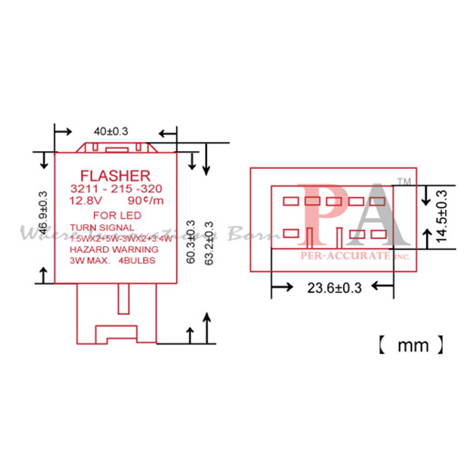 Pa 8 Pin Led Flasher Fixer Turn Singal Mazda Car Use 12v Relay Signal Wiring Diagram Connection Instructions Specification