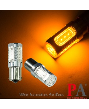 【PA LED】10~30V 自小客車 大貨車 大客車 1156 單芯 7.5W 5面 COB 高功率 LED 黃光 倒車燈 方向燈