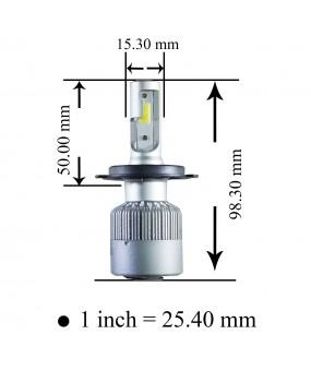 【PA LED】H7 H8 H9 H11 H16J 雙重散熱 60W COB 高功率 6000K 白光 LED 大燈 霧燈 特價再特價 599 帶回家