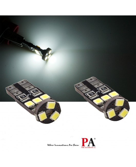 【PA LED】T10 CANBUS 不亮故障燈 9晶 2835 SMD 高亮度 小燈 室內燈 牌照燈 閱讀燈