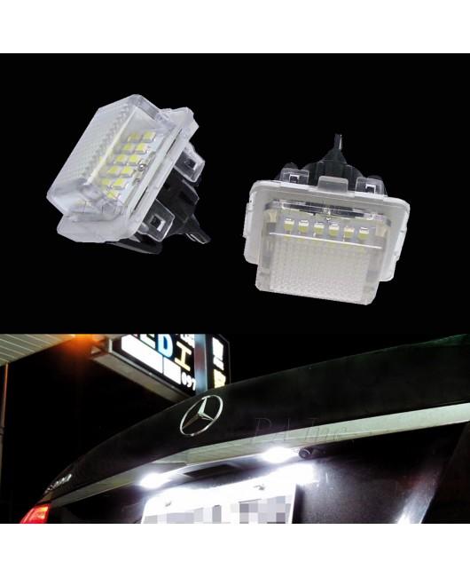 【PA LED】賓士 BENZ 18晶 SMD LED 牌照燈 C-Class W204 S204 C180 C300